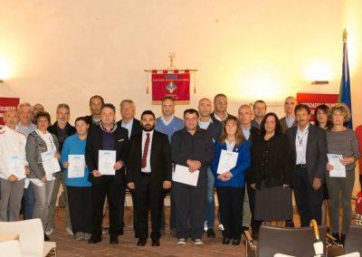 Premiazione dei donatori benemeriti dell'AVIS di Lugo per l'anno 2016